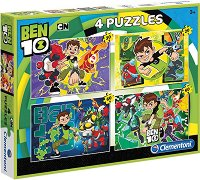 """Бен Тенисън - Комплект от 4 пъзела от серията """"Ben 10"""" -"""