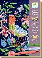 Оцветявай с флумастери - В градината - Творчески комплект -