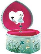 Музикална кутия за бижута - Сърце -