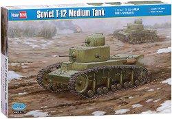 Съветски среден танк - Т-12  - Сглобяем модел -