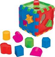 Сортер - Кубче - Детска играчка с 10 фигурки за сортиране -
