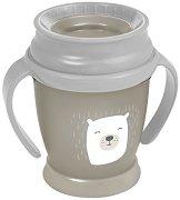 Преходна чаша с дръжки - Buddy Bear: 210 ml - За бебета над 9 месеца -