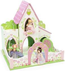 """Приказен замък - Дървена играчка за колекционерски фигури от серията """"Приказни герои"""" - играчка"""