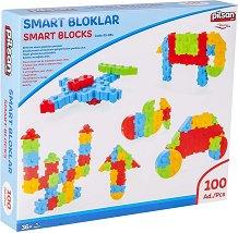 Детски конструктор - Smart Blocks - Комплект от 100 части - играчка