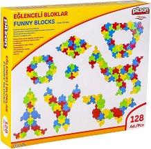 Детски конструктор - Funny Blocks - Комплект от 128 части -
