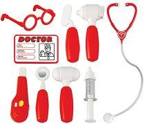 Детско лекарско куфарче - Комплект с 9 аксесоара -