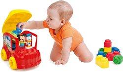 """Конструктор с меки части - Автомобилът на Мики и Доналд Дък - От серията """"Clemmy: My Soft World"""" - играчка"""