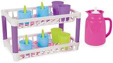 Детски сушилник за съдове - Комплект за игра с аксесоари -