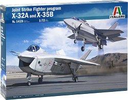 Демонстрационен изтребител JSF X-32A и X-35B - Сглобяеми авиомодели комплект от 2 броя -