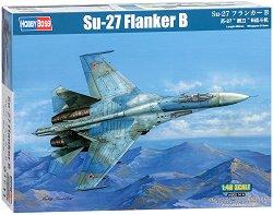Руски изтребител - Su-27 Flanker-B - Сглобяем авиомодел -