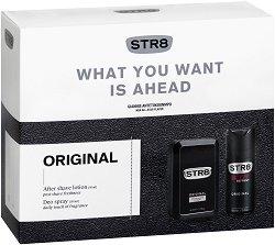 Подаръчен комплект за мъже - STR8 Original - Лосион за след бръснене и дезодорант -