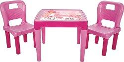 Маса с две столчета - Комплект мебели за деца - гърне