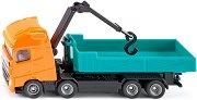 """Товарен камион с кран - Volvo FH - Метална играчка от серията """"Super: Transporters & Loaders"""" - играчка"""