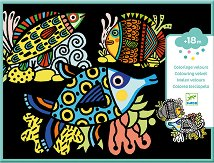 Оцветявай с флумастери - Кадифени рибки - Творчески комплект за рисуване -