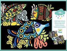 Оцветявай с флумастери - Кадифени рибки - творчески комплект