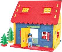 Къща за игра - Детска играчка за сглобяване с меки части -