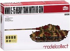 Германски тежък танк - E-75 With 88 Gun - Сглобяем модел - макет