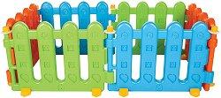 Сглобяема ограда за детски кът - Комплект от 6 цветни модула - играчка