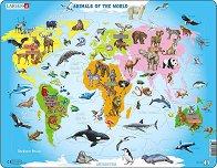 Животните в света - Пъзел в картонена подложка -