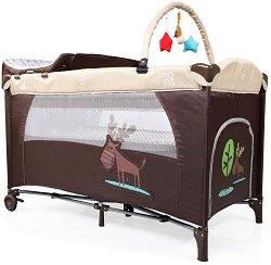 Сгъваемо бебешко легло на две нива - Happy Baby - Комплект с аксесоари -