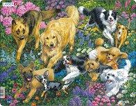 Кучета - Пъзел в картонена подложка -