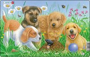 Кученца с къртица - 1 част - Пъзел в картонена подложка -