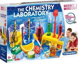 """Химическа лаборатория - 180 експеримента - Образователен комплект от серията """"Clementoni: Science"""" -"""