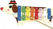 Ксилофон - Куче - Детски дървен музикален инструмент -