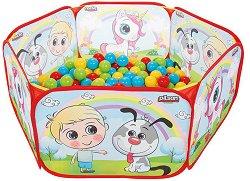 Детски център за игра - Животни - Комплект с 200 топки - играчка