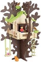Къща на дърво - Дървен конструктор - играчка