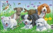 Кученца - 2 част - Пъзел в картонена подложка -