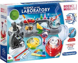 """Научна лаборатория - 150 експеримента - Образователен комплект от серията """"Clementoni: Science"""" - басейн"""