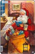 Дядо Коледа чете приказка - Пъзел в картонена подложка -