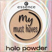 Essence My Must Haves Holo Powder - Сенки за очи с холограмен ефект - шампоан
