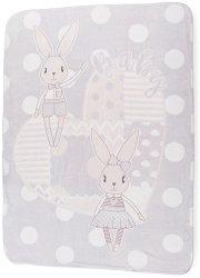 Бебешко одеяло - Rabbits - Размери 110 x 140 cm -
