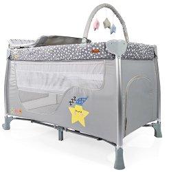 Сгъваемо бебешко легло на две нива - Good Night - Комплект с аксесоари -
