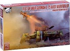 """Германска ракетна установка - Е75 Ausf.vierfubler Rheintochter 1  - Сглобяем модел от серията """"Fist of War"""" -"""