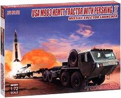 Американски военен влекач с насочващ механизъм за ракети - USA M983 HEMTT With Pershing II - Сглобяем модел -