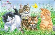 Малки котенца - 1 част - Пъзел в картонена подложка -