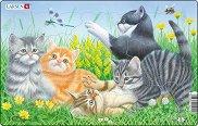 Малки котенца - 2 част - Пъзел в картонена подложка -