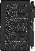 Тефтер с метални корици - Black Croc - Комплект с химикалка