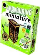 """Декорирай мебел за къща за кукли - Гардероб - Творчески комплект от серията """"Colouring a Paintwork Miniature"""" -"""
