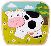 Крава - Детски дървен пъзел -
