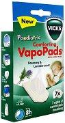 Таблетки с етерични масла от лавандула и розмарин - VapoPads - Опаковка от 7 броя за парен инхалатор или овлажнител за въздух -