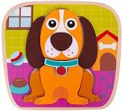Куче - Детски дървен пъзел -