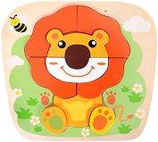Лъв - Детски дървен пъзел -