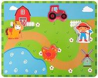 Ферма - Дървени фигури за нанизване -