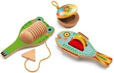 """Комплект музикални инструменти - Дървени играчки от серията """"Animambo"""" -"""