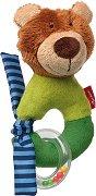 """Мече - Мека бебешка играчка с дрънкалка от серията """"Red Stars"""" -"""