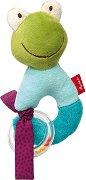 """Жабка - Мека бебешка играчка с дрънкалка от серията """"Red Stars"""" -"""